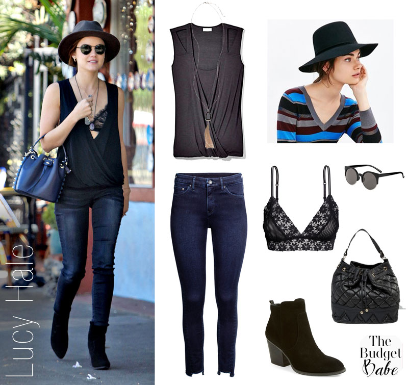 Copy Lucy Hale's casual streetstyle look.