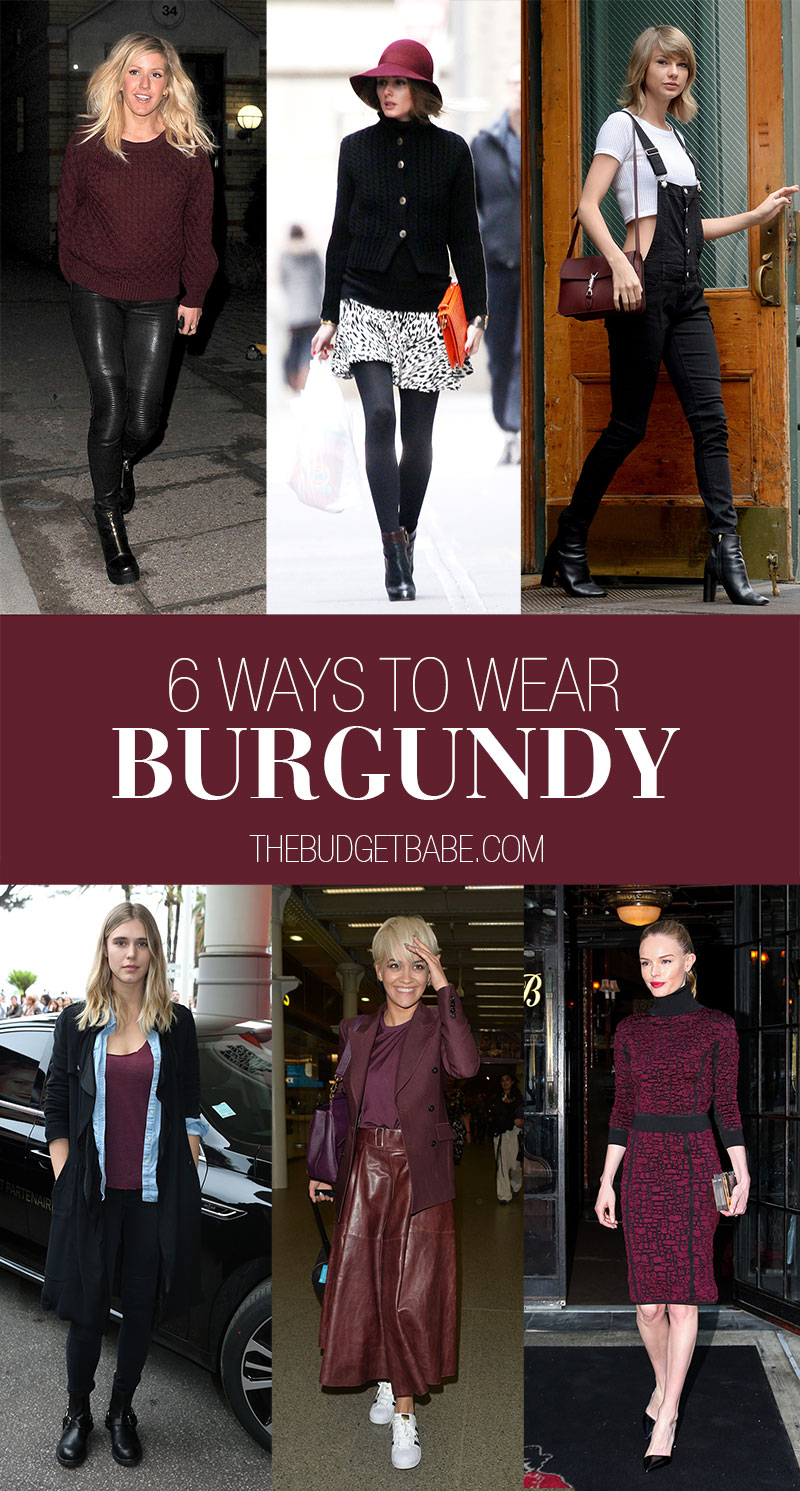How to Wear Burgundy for Fall