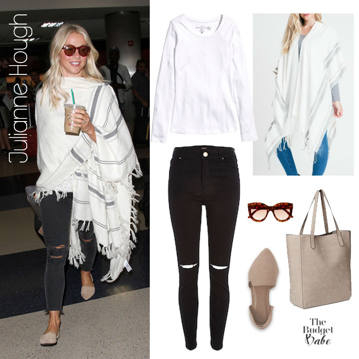 Julianne Hough White Wrap Look for Less