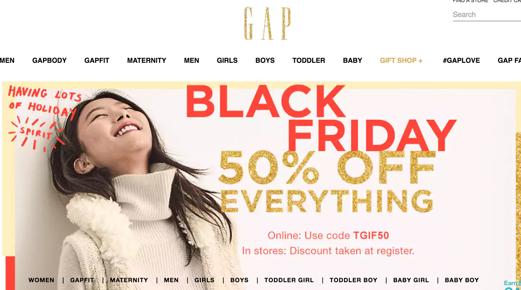 Gap Black Friday Sale
