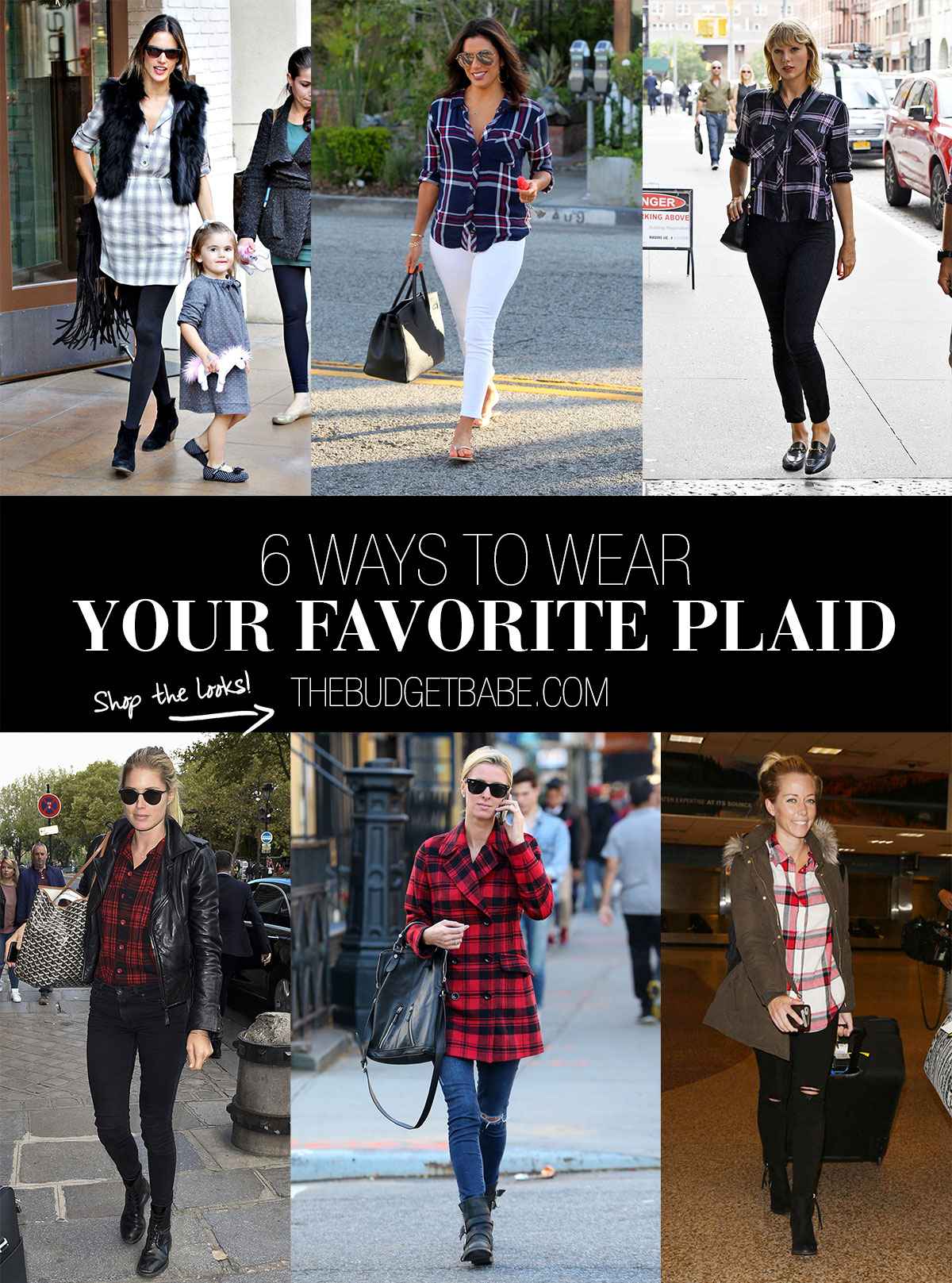 Here's how to wear plaid 6 ways inspired by your favorite celebs.