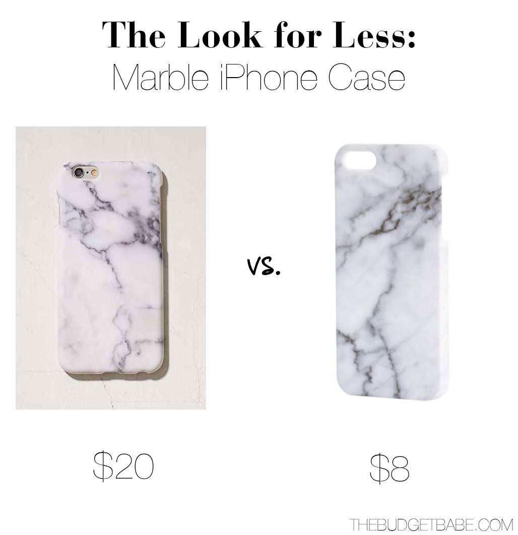 Marble iPhone cases from $20 to $8