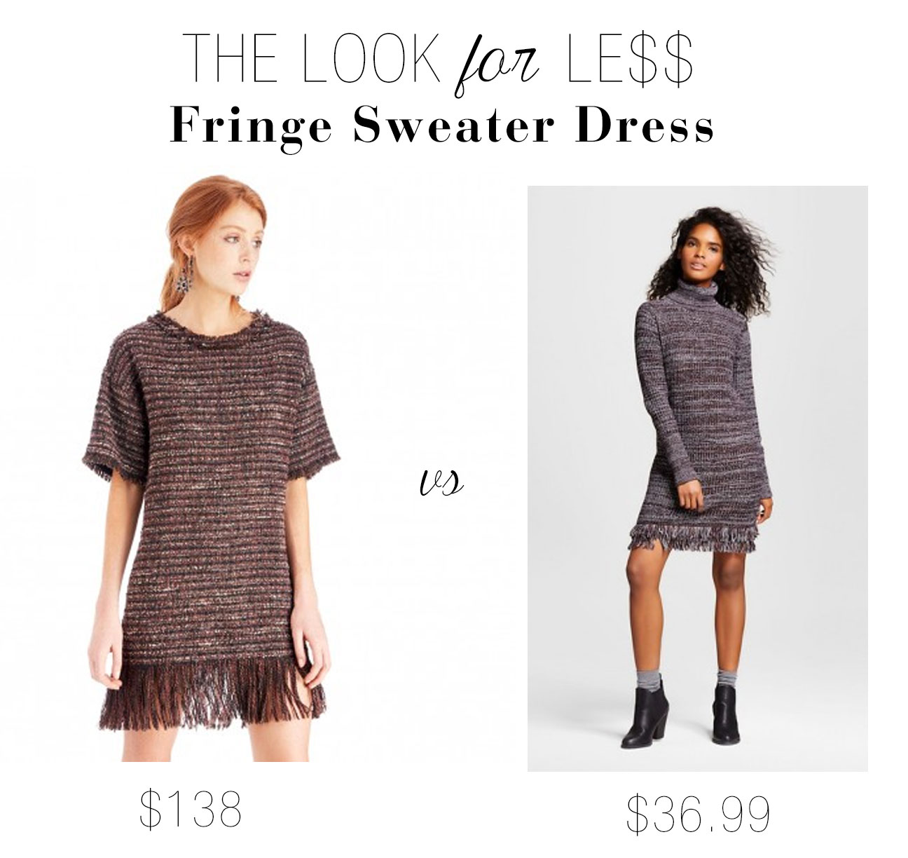 Try the fringe dress trend for less.