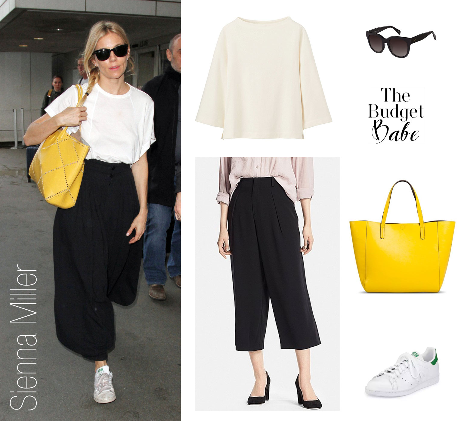 See how to recreate Sienna Miller's eclectic airport style with pieces starting at just $15.