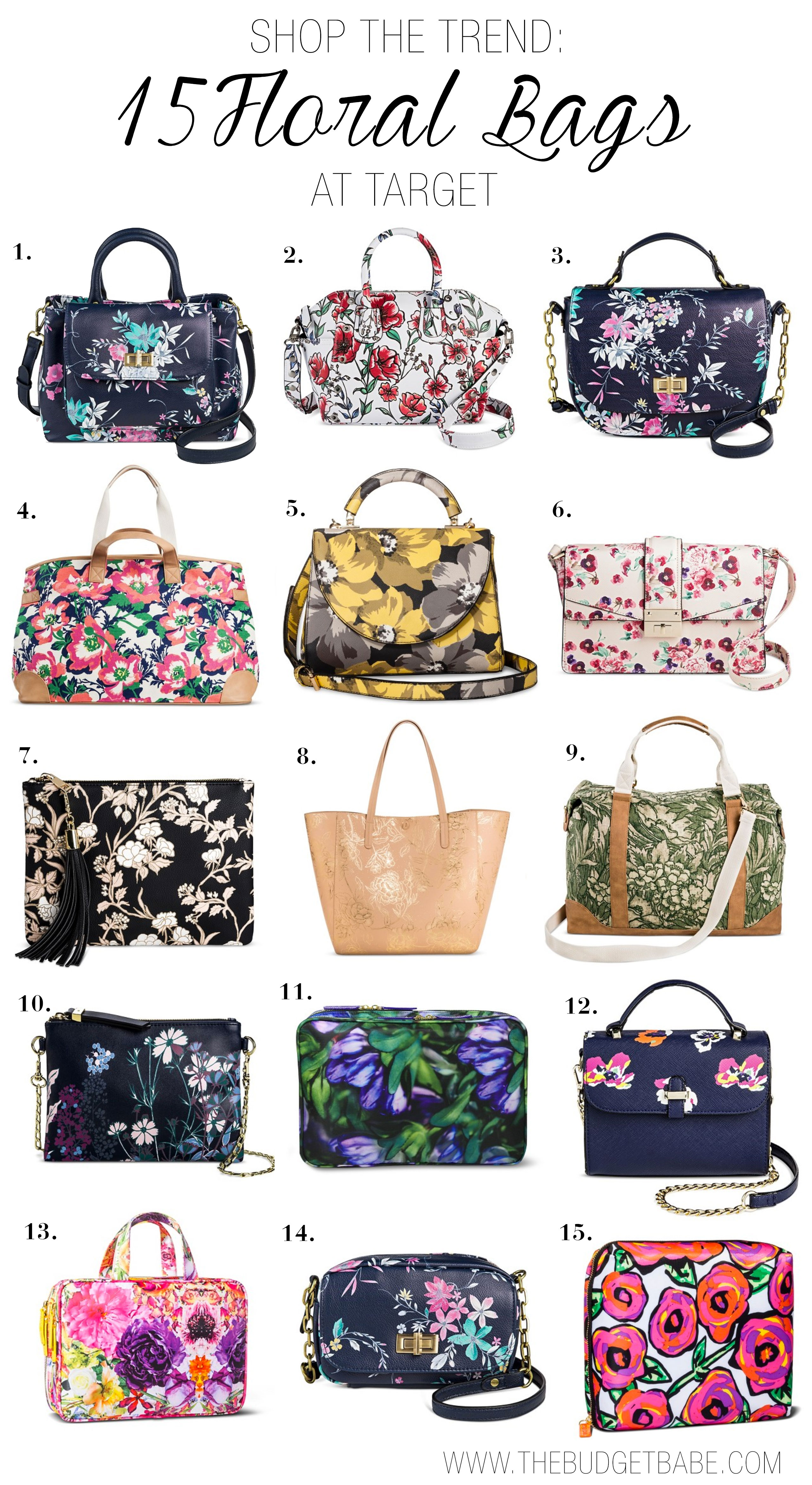 Shop the floral bag trend with these budget-friendly picks under $45 at Target.