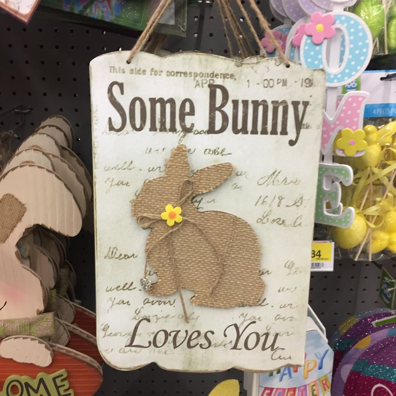 Easter decor has arrived at Walmart.