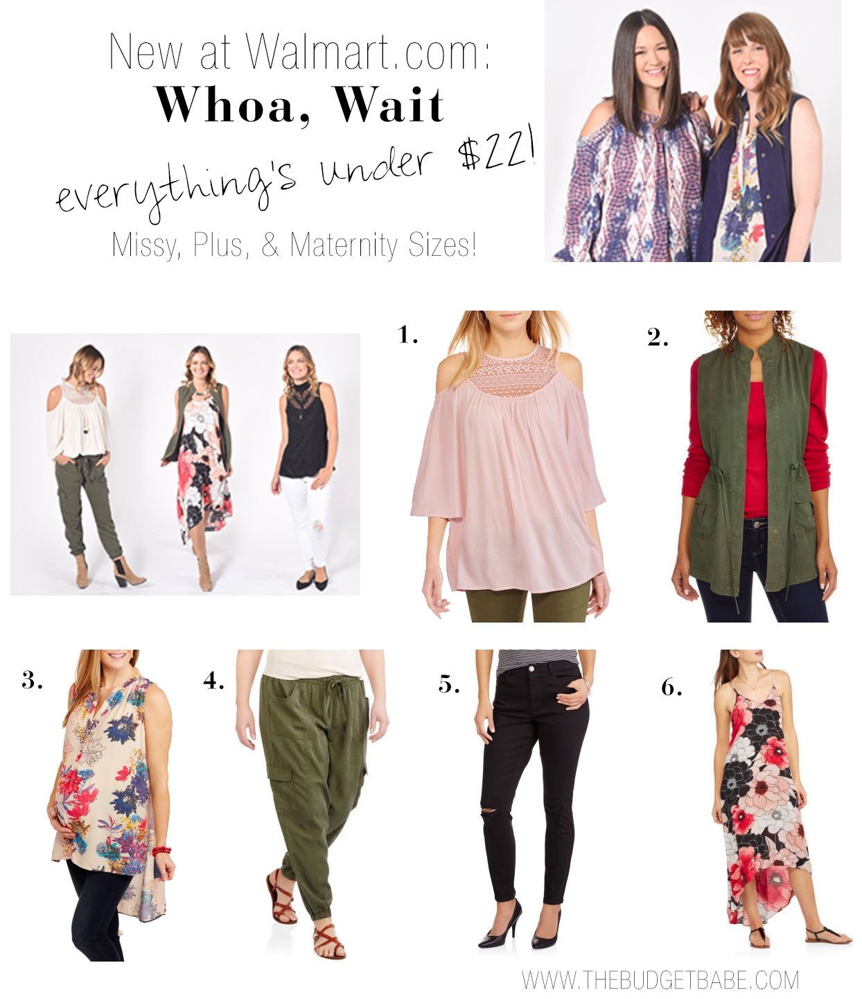 Whoa Wait Walmart offers missy, maternity and plus size fashions under $25! All at Walmart.com.