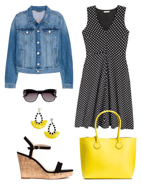 Polka dots always feel right for spring.
