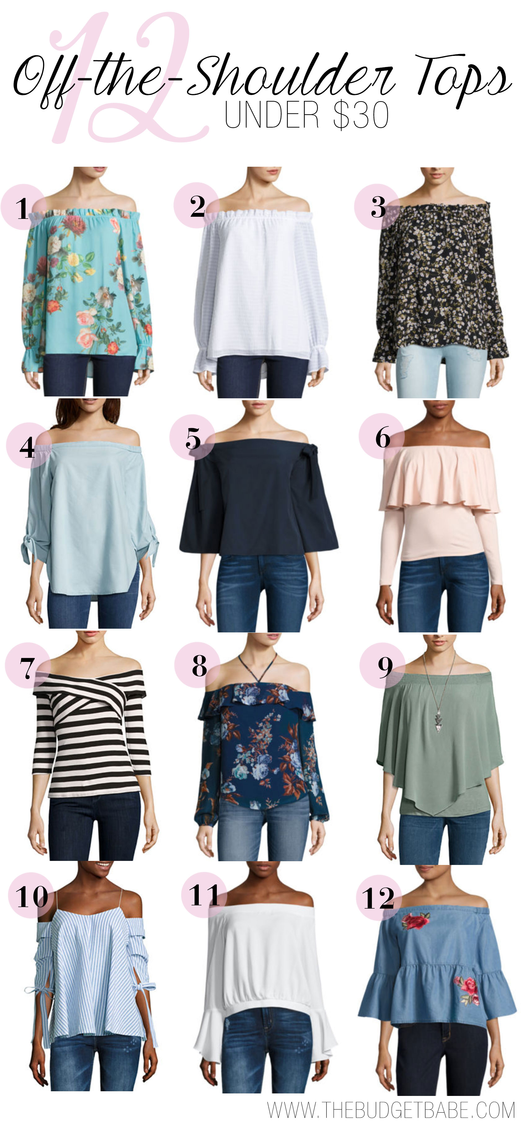 Shop the best off-the-shoulder tops under $30!