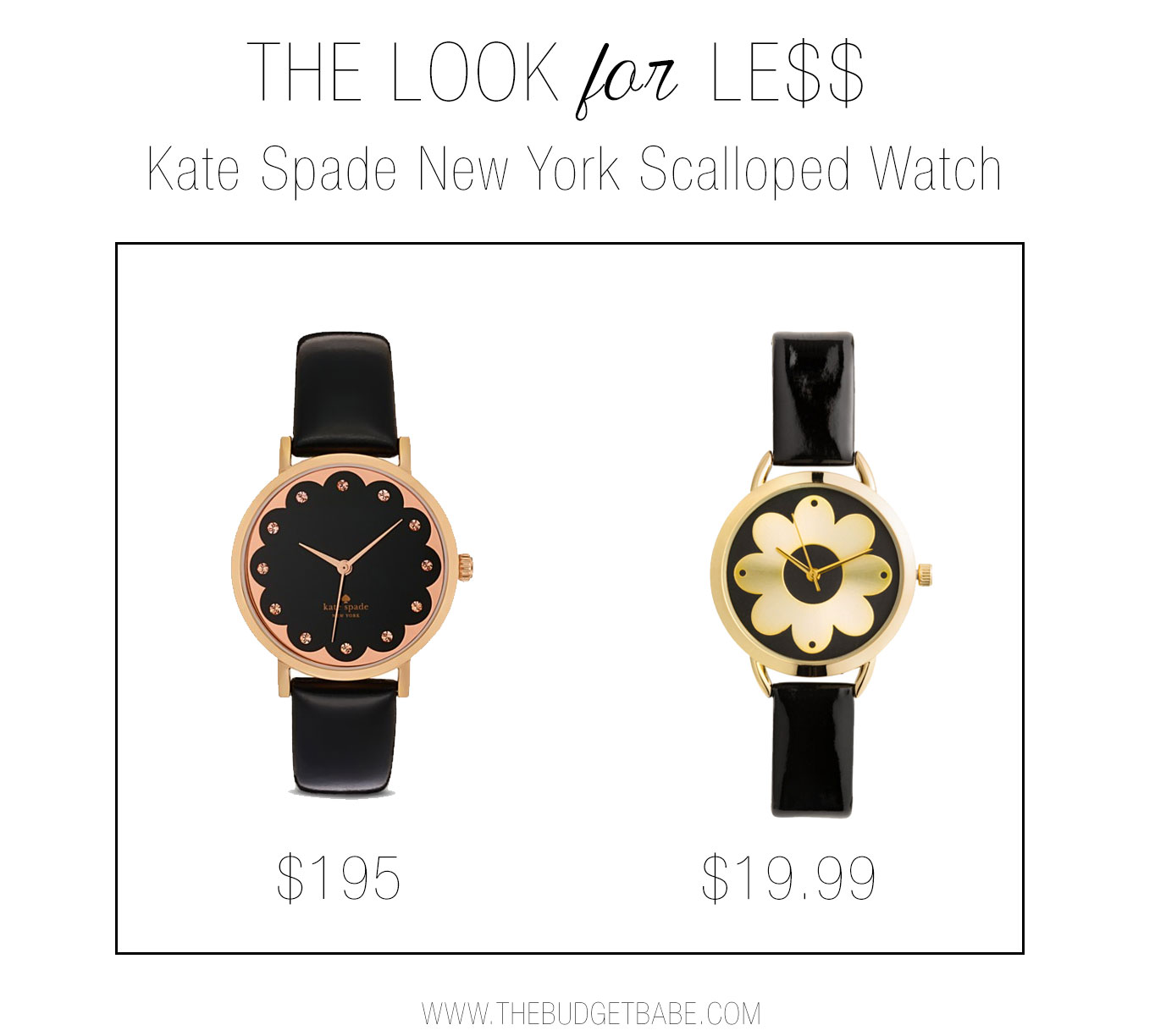 The Look for Less: Kate Spade Scalloped Watch
