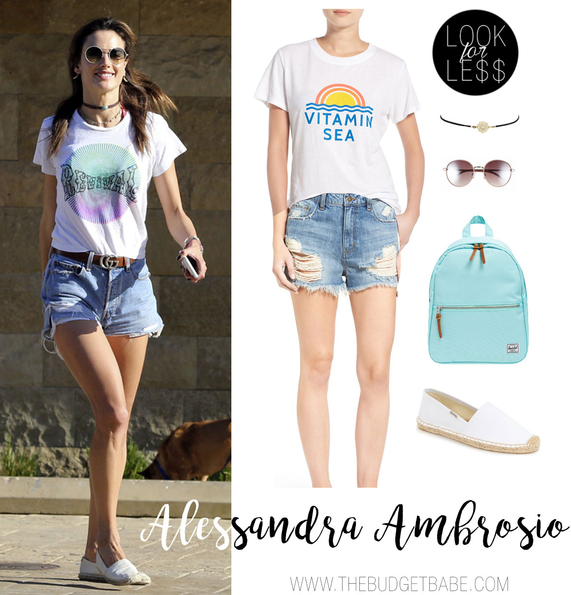Looking for celebrity looks for less? Try Alessandra Ambrosio's chill summer looks with these under $50 finds.