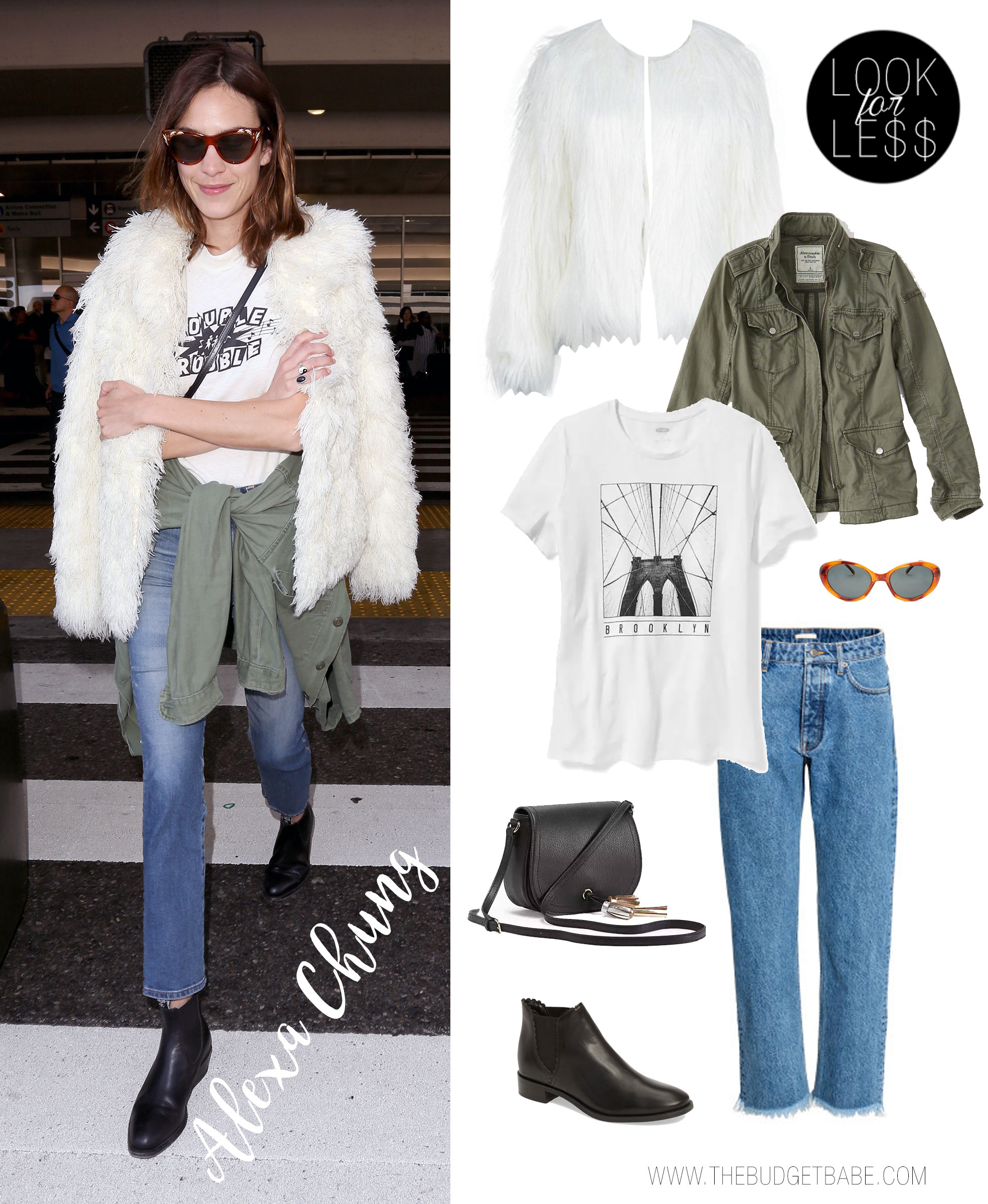 Alexa Chung's airport style is always on point.