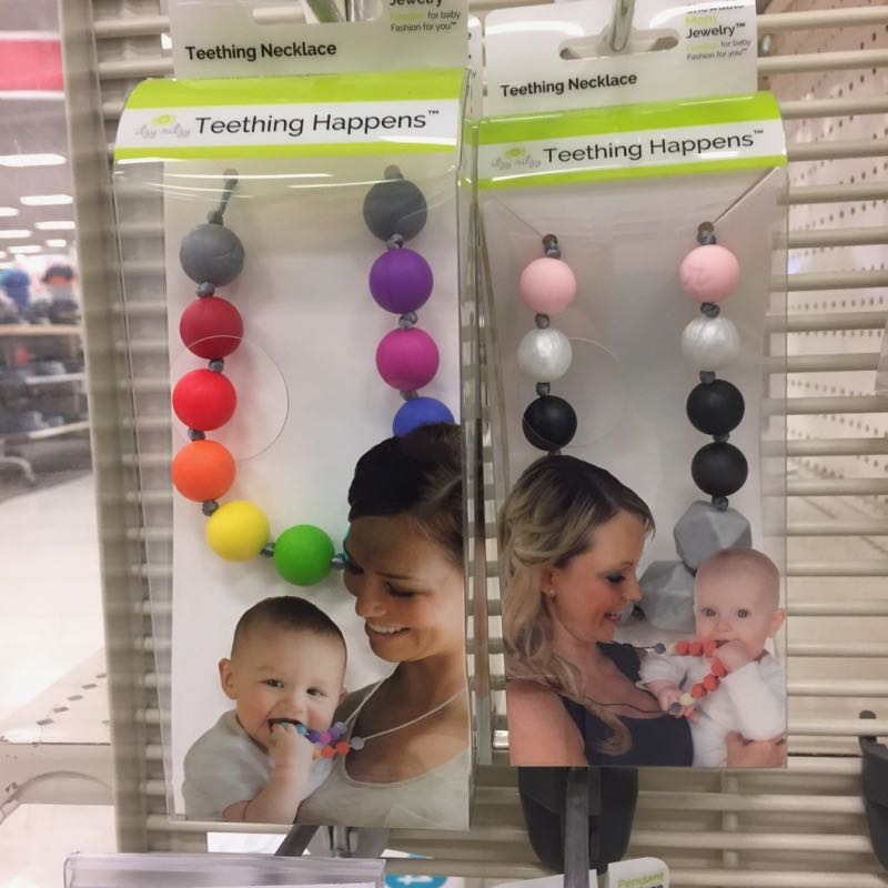 Teething necklaces and bracelets at Target