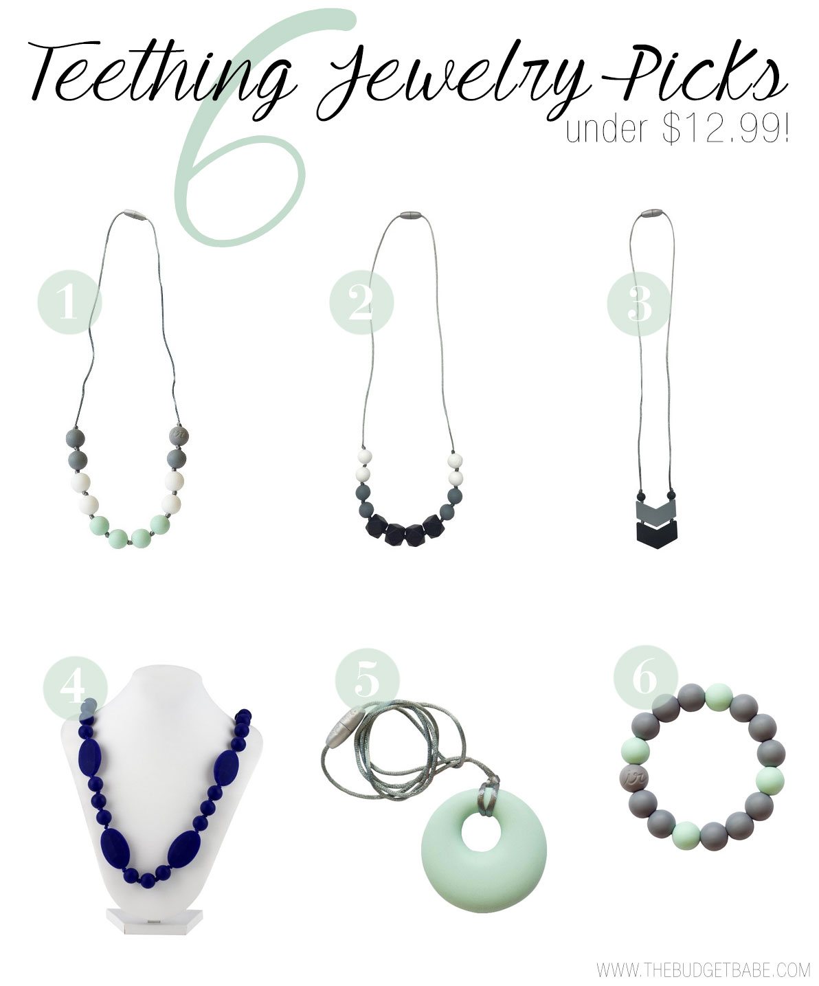 Shop teething jewelry picks under $12.99.