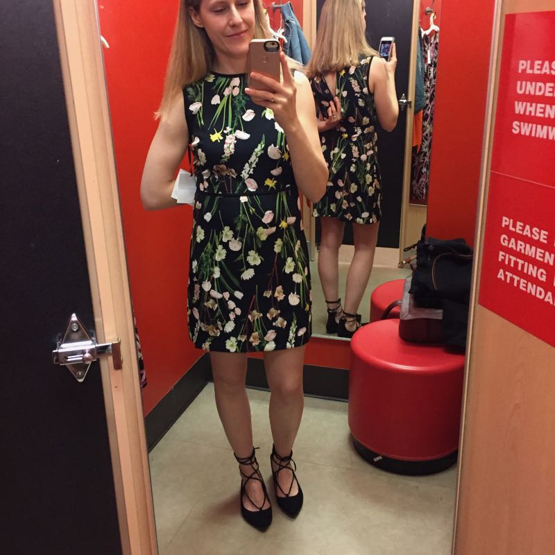 2ffb2e50ce8 The Budget Babe reviews Victoria Beckham at Target with dressing room  selfies and sizing details.