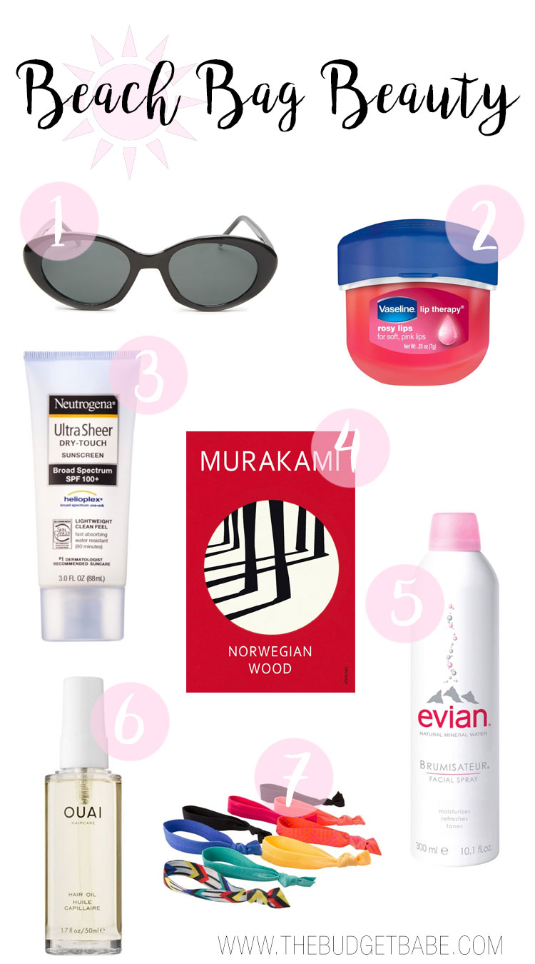 Beach bag beauty must-haves