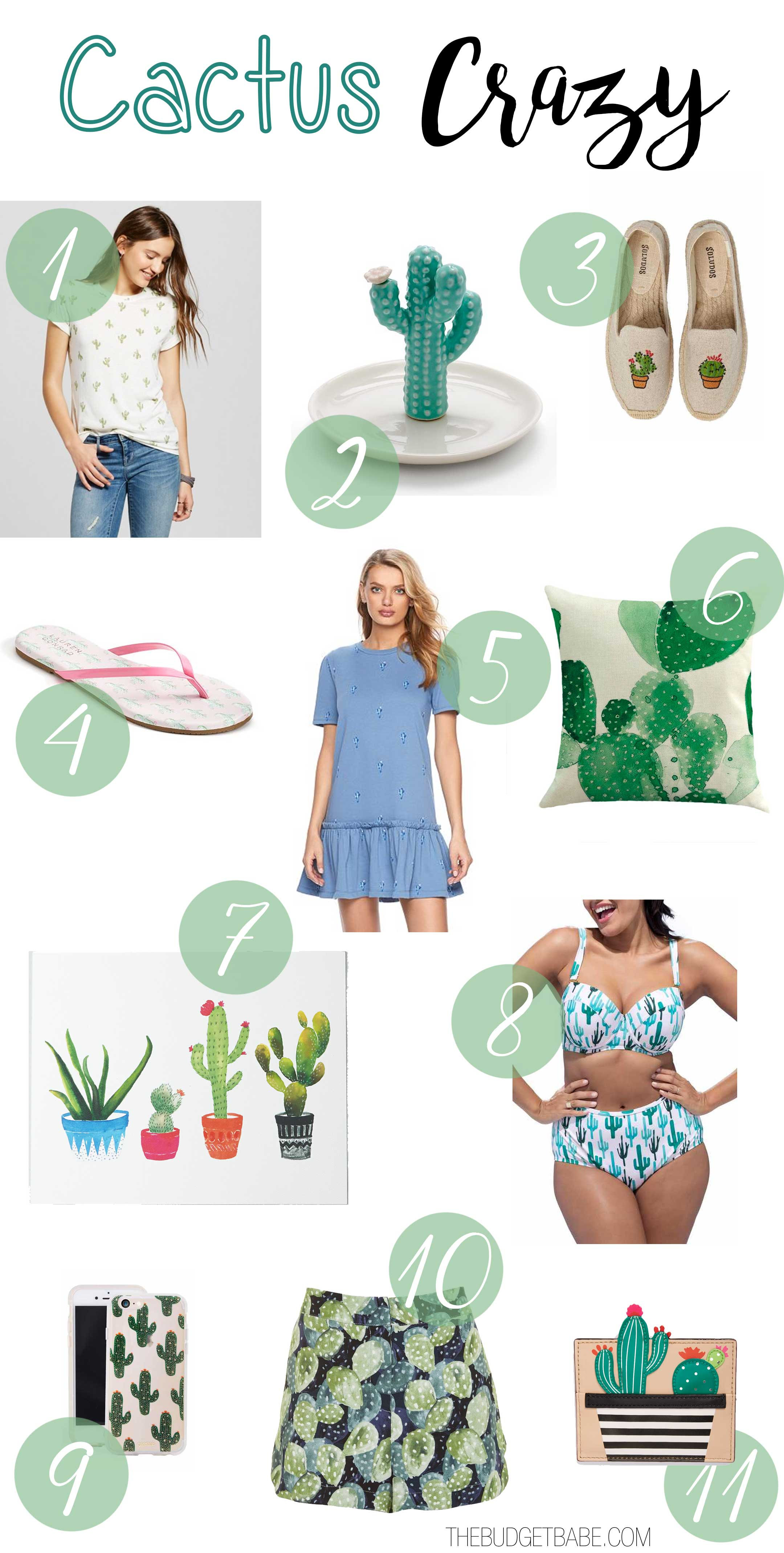 We're crazy for cactus themed fashions and decor.
