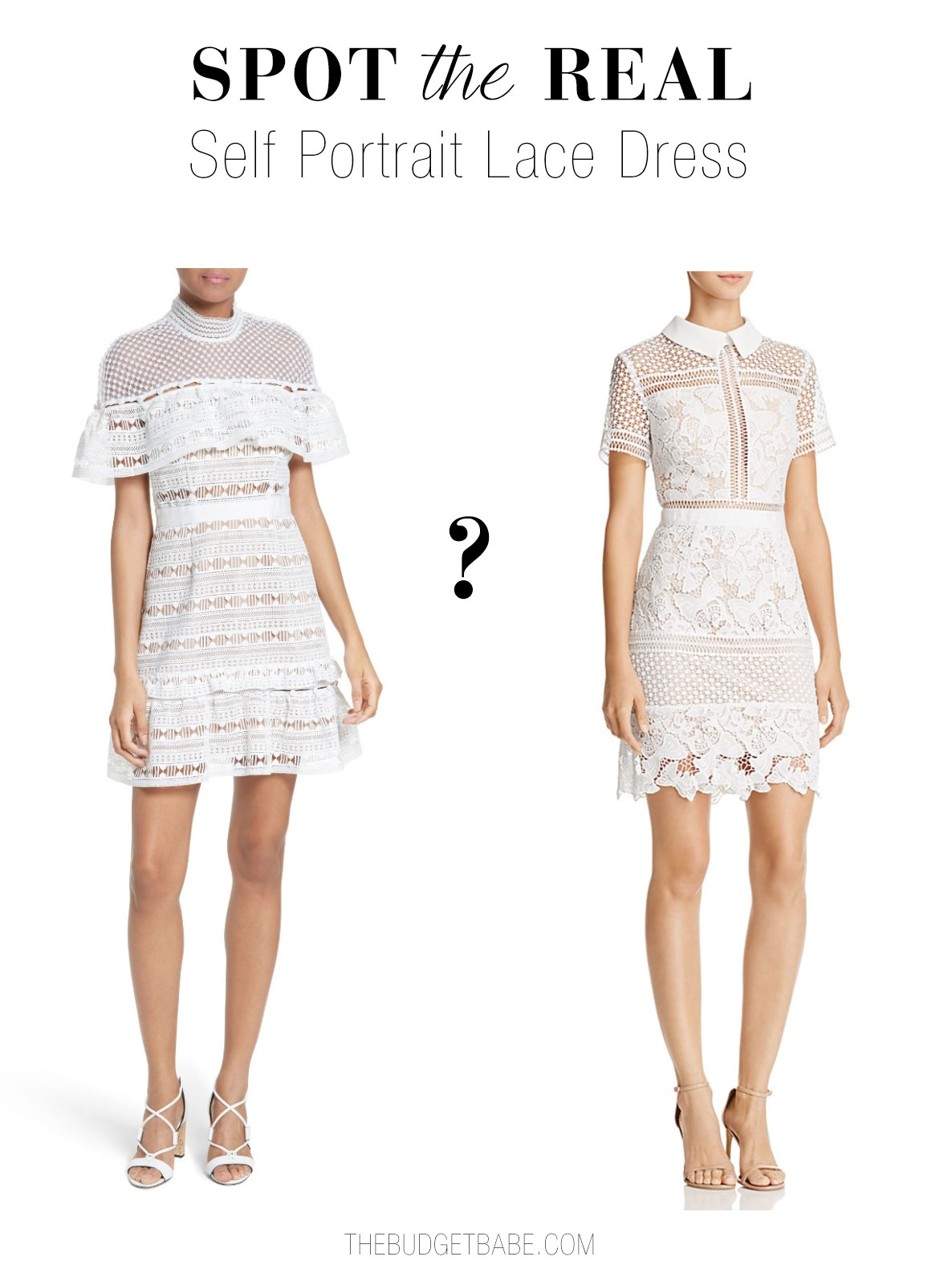 Can you guess which is the real Self Portrait lace dress?