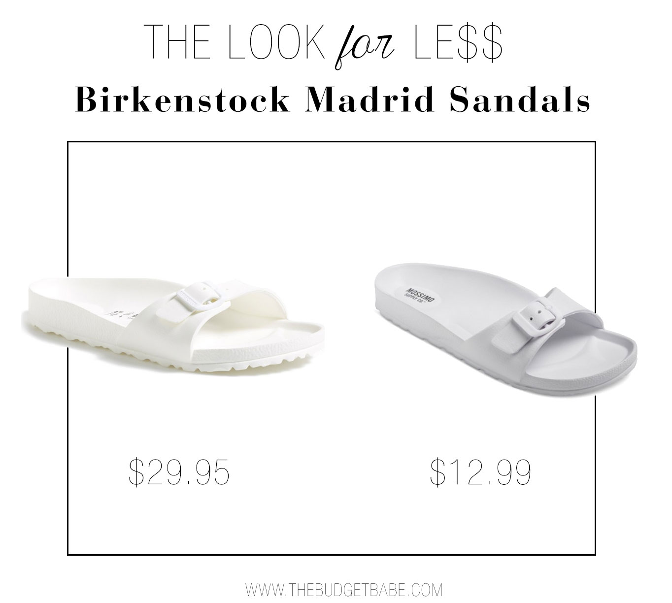 Birkenstock Madrid sandals get knocked off by Mossimo at Target.