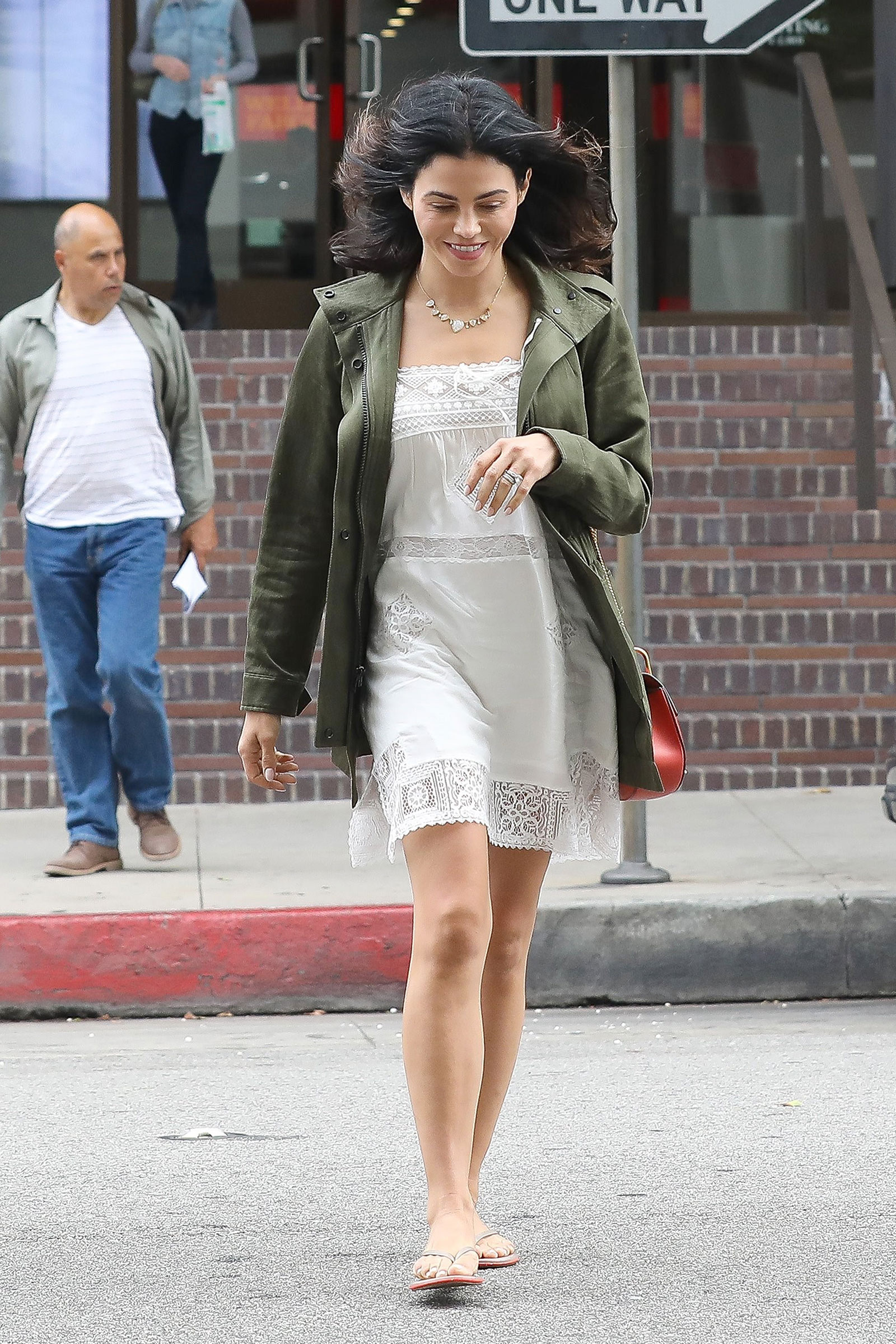 Jenna Dewan is Lovely in Lace and A Cargo Jacket