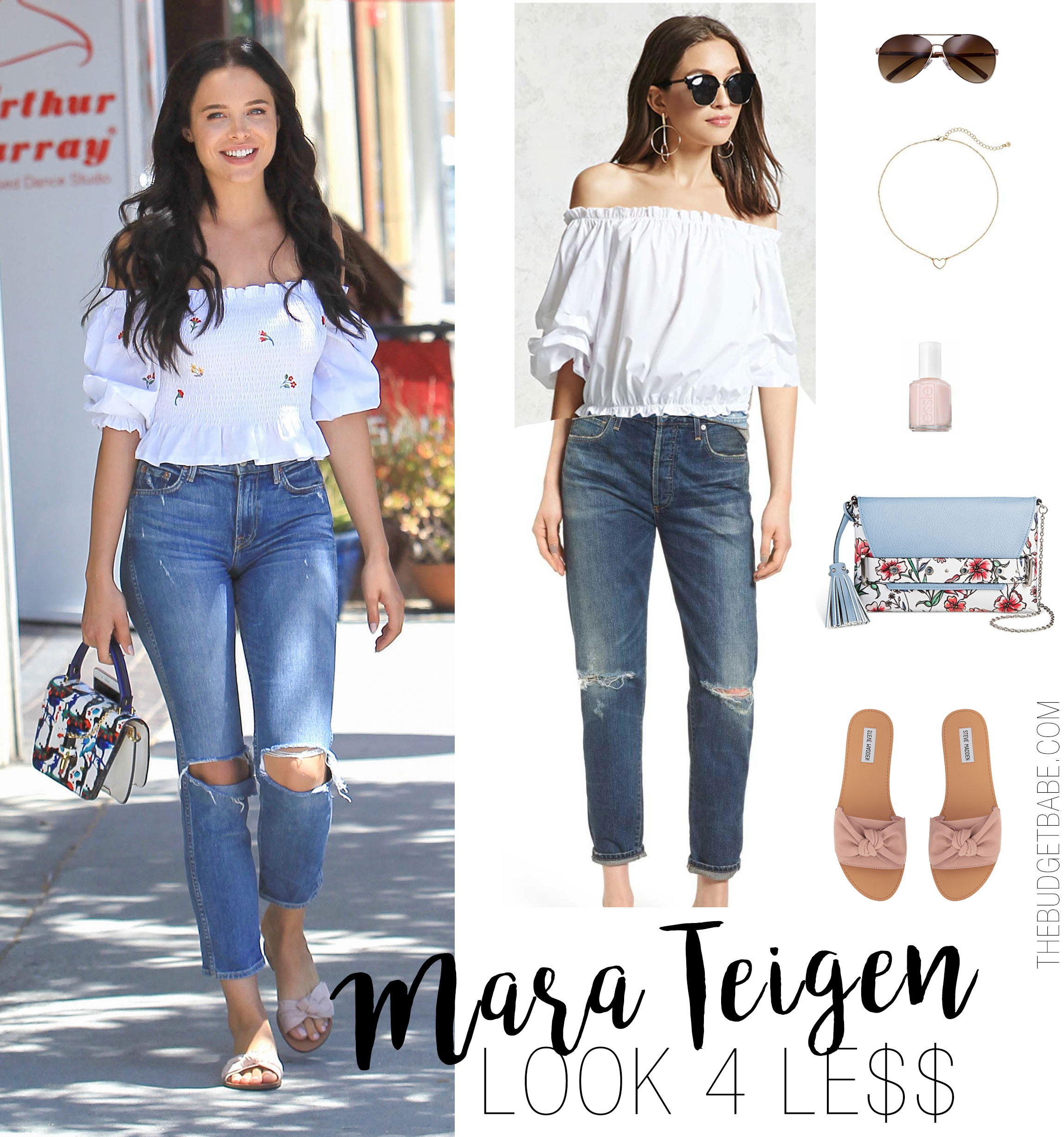 How to style an off-the-shoulder top for summer