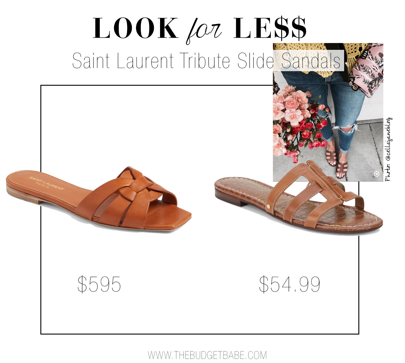 Saint Laurent Tribute Sandal versus Sam Edelman Berit Slide