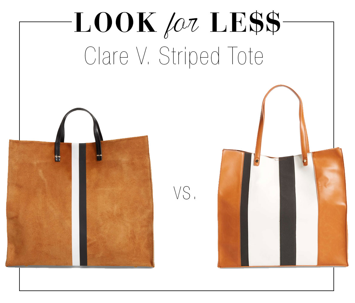 Get the look of Clare V's striped tote for less.