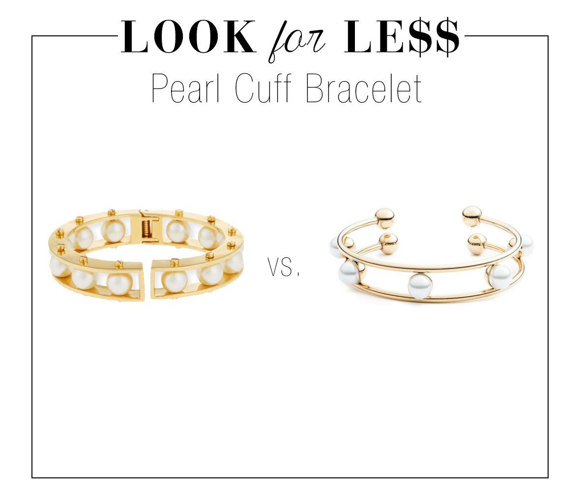 Get the pearl cuff trend for less.