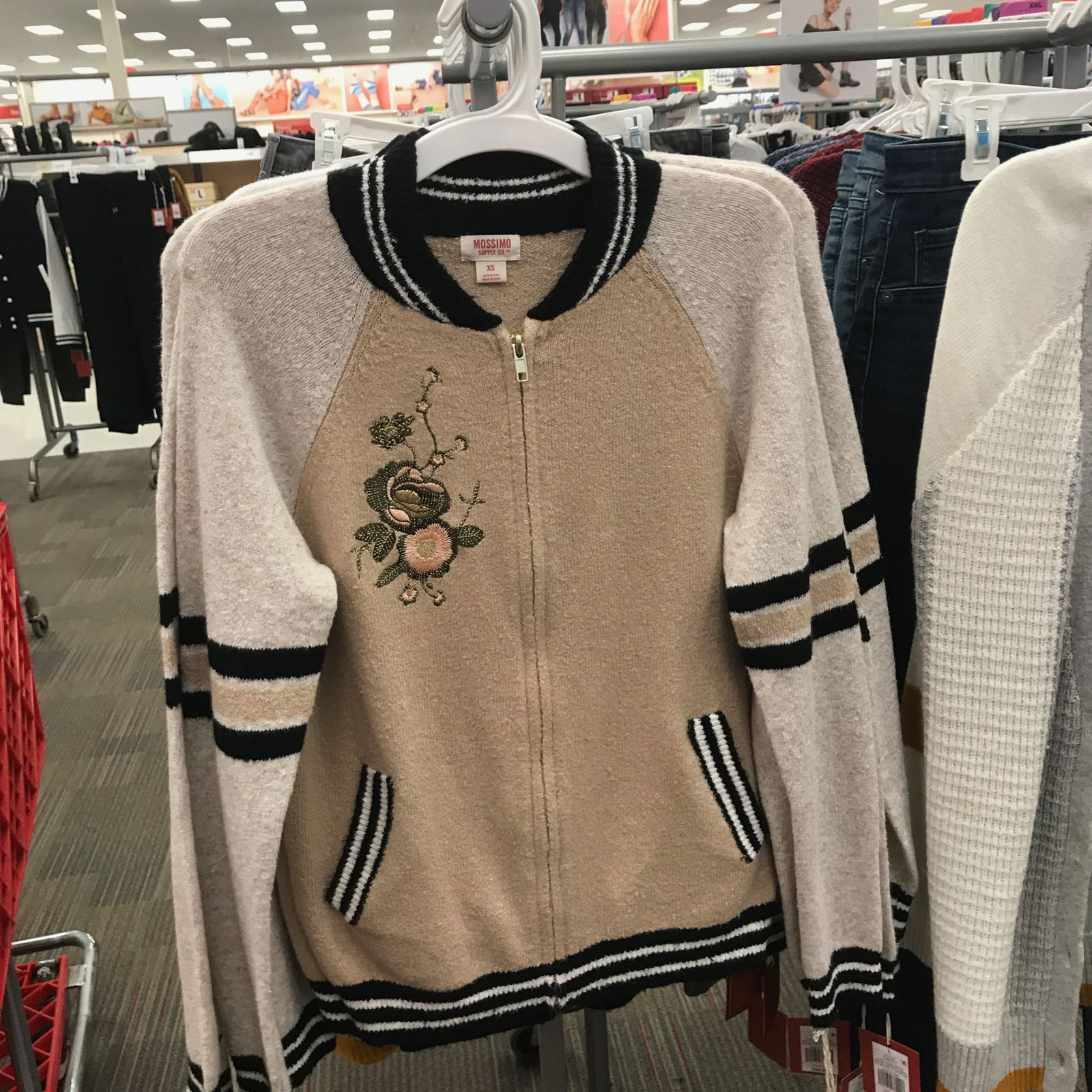 Fall trendspotting at Target reveals the bomber jacket trend.