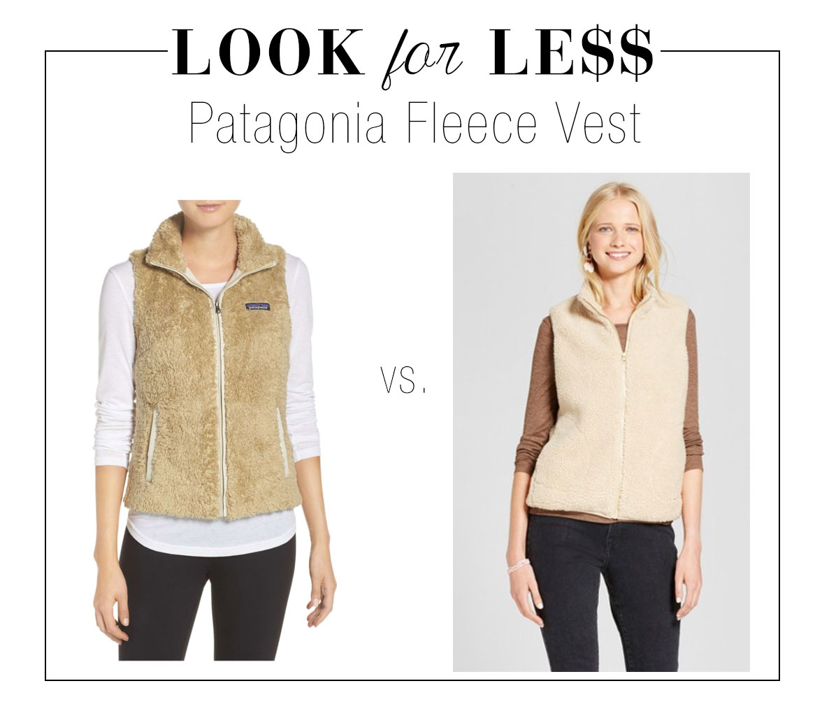 Patagonia fleece vest look for less