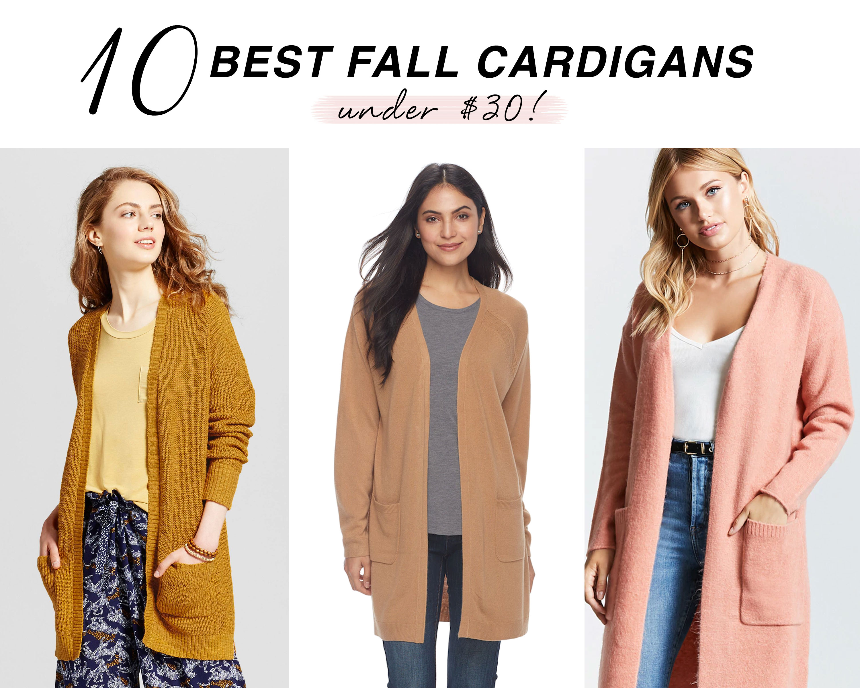 Shop the best fall cardigans on a budget