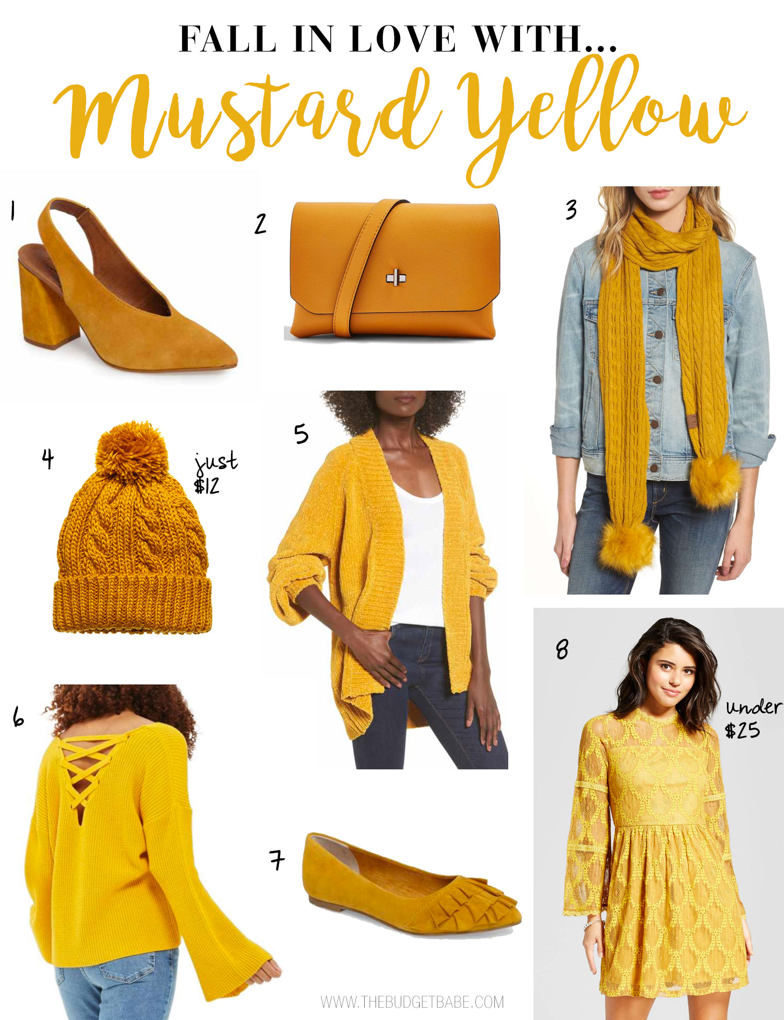 Mustard yellow is the perfect hue to wear for fall 2017.