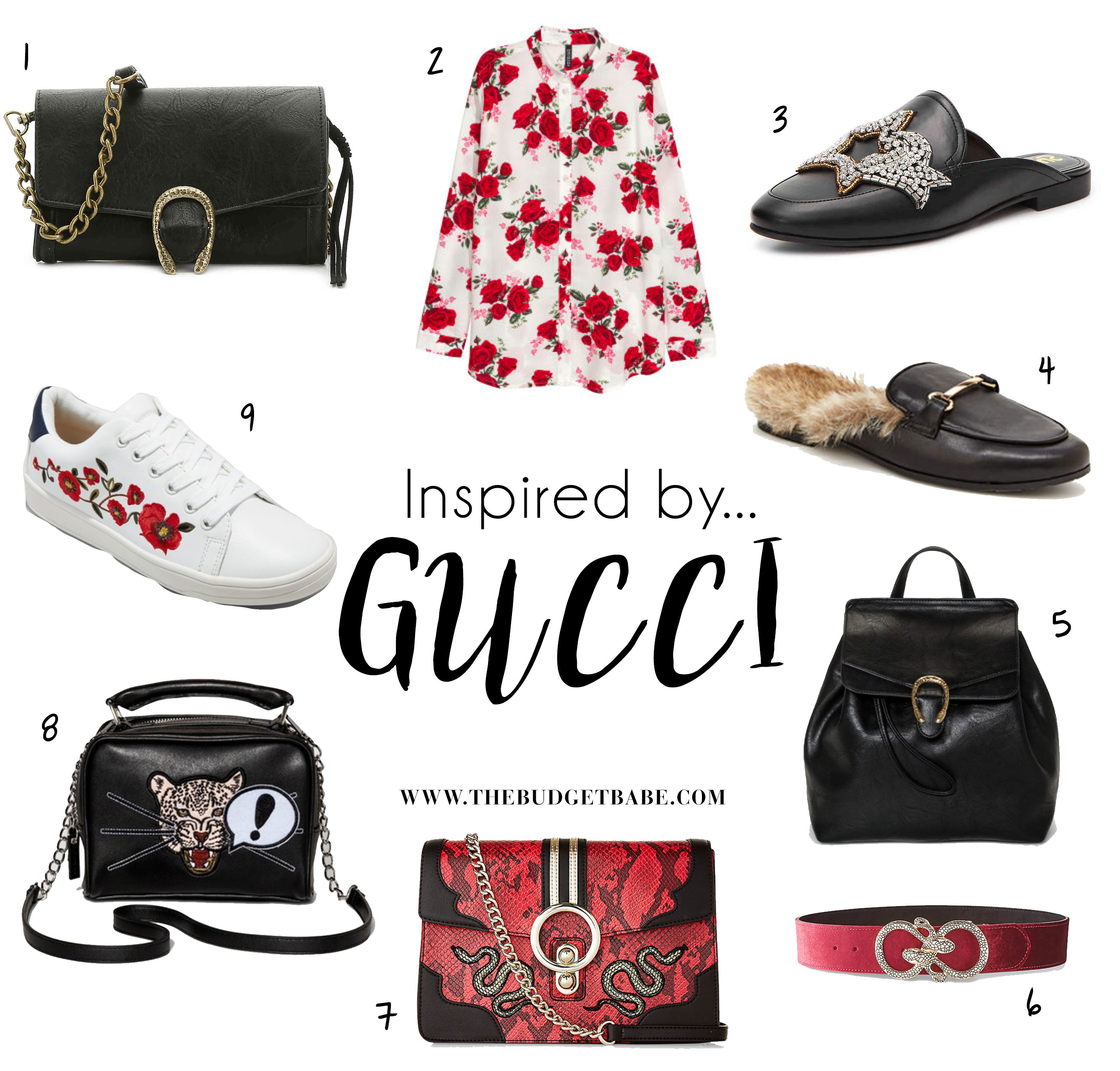 Shop fashions under $50 inspired by Gucci.