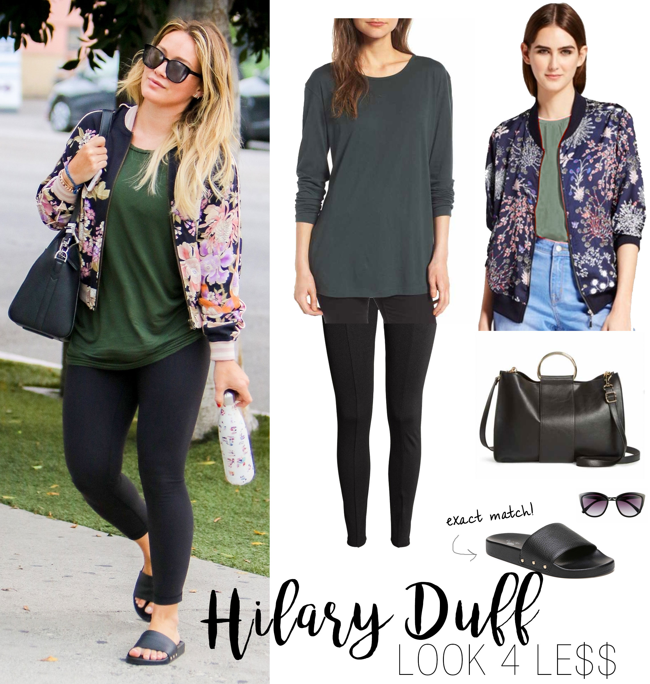 Hilary Duff heads to yoga class before an early dinner at Fig & Olive in West Hollywood with a friend.