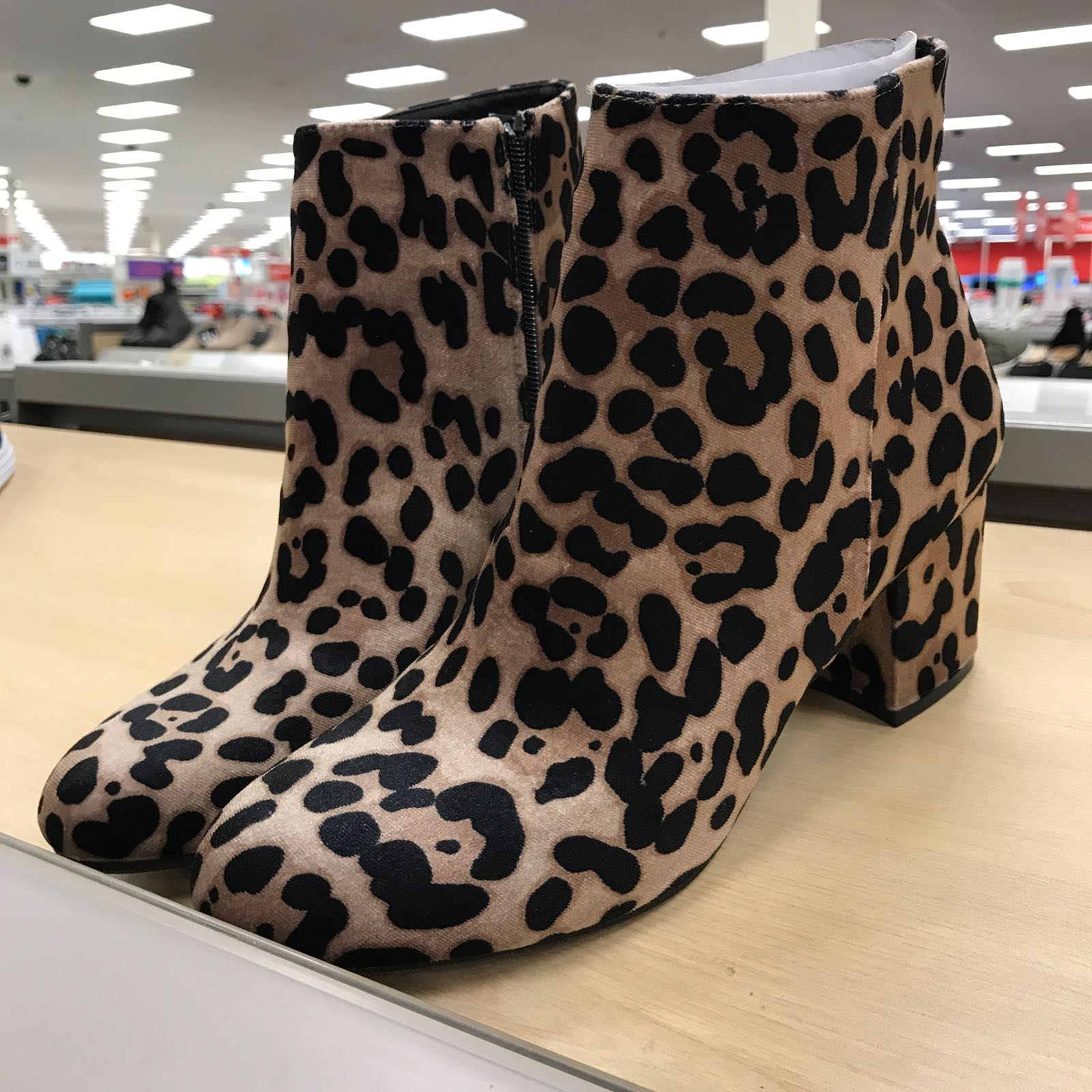 Leopard booties under $40 at Target.