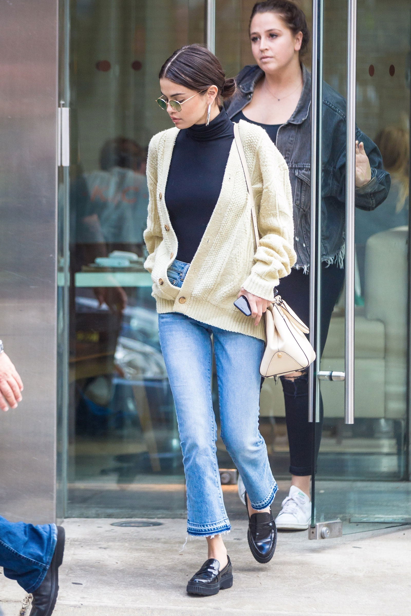 d06eb7c1d72 Selena Gomez s Turtleneck and Loafers Look for Less - The Budget ...