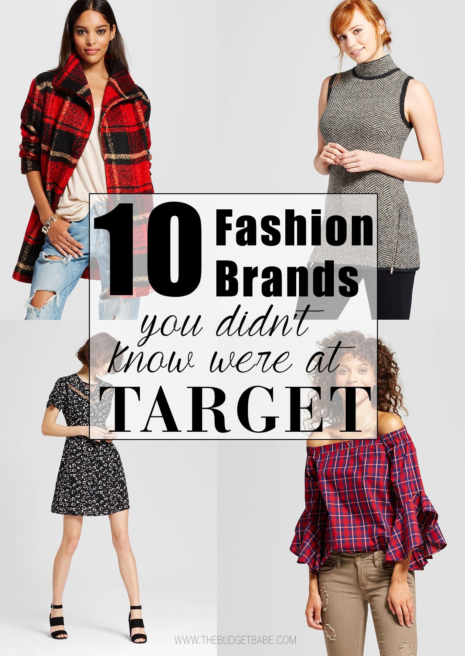 Here are 10 fashion brands you might not know at Target.