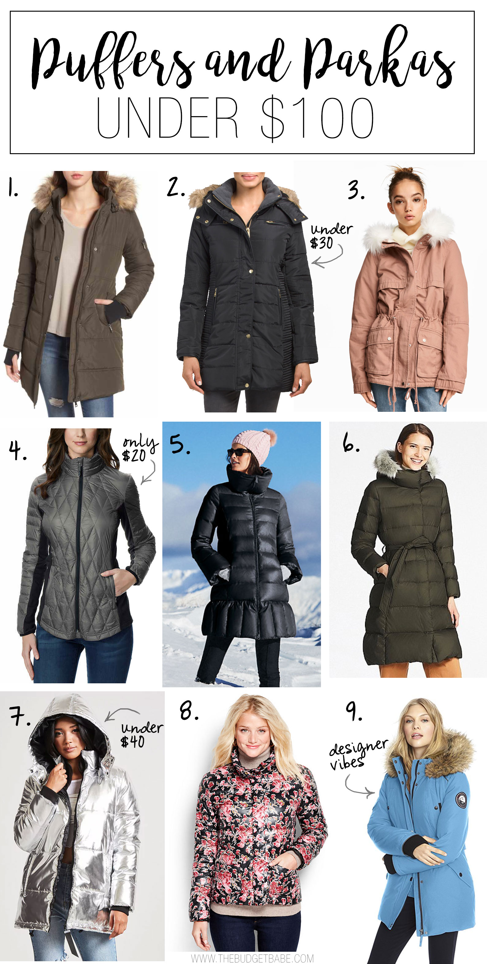 Here's where to buy a cheap & cute puffer or parka under $100!