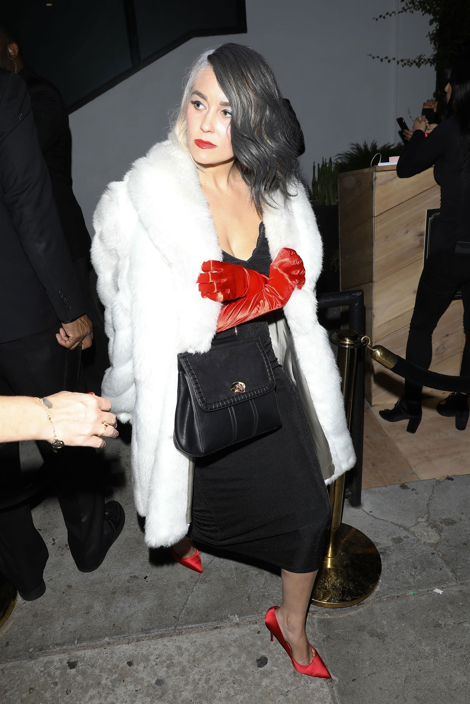 Lauren Conrad as Cruella de Vil Halloween Costume celebrity inspiration easy DIY last-minute