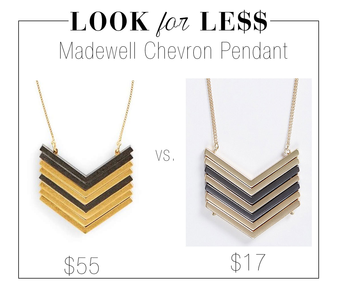 Madewell's chevron pendant goes with any fall look.