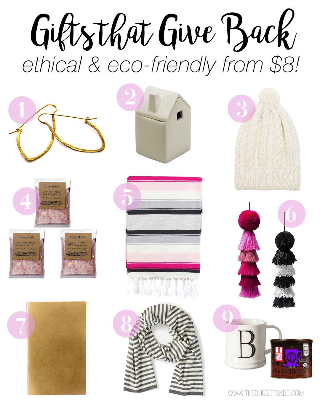 Gifts that Give Back! Shop ethical, organic, fair-trade, eco-friendly gift ideas on a budget