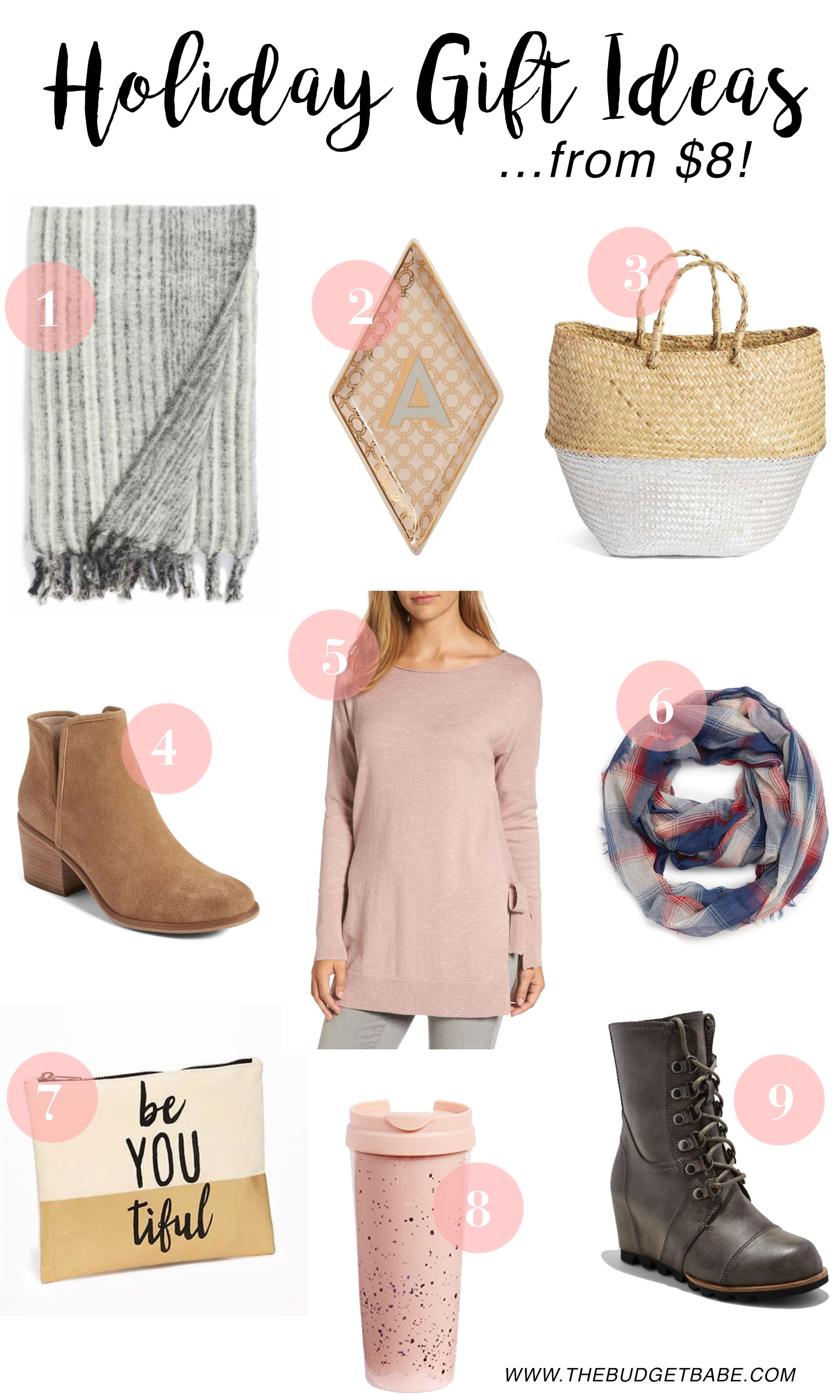 Holiday Gift Guide Ideas on a Budget from Fashion Blog The Budget Babe