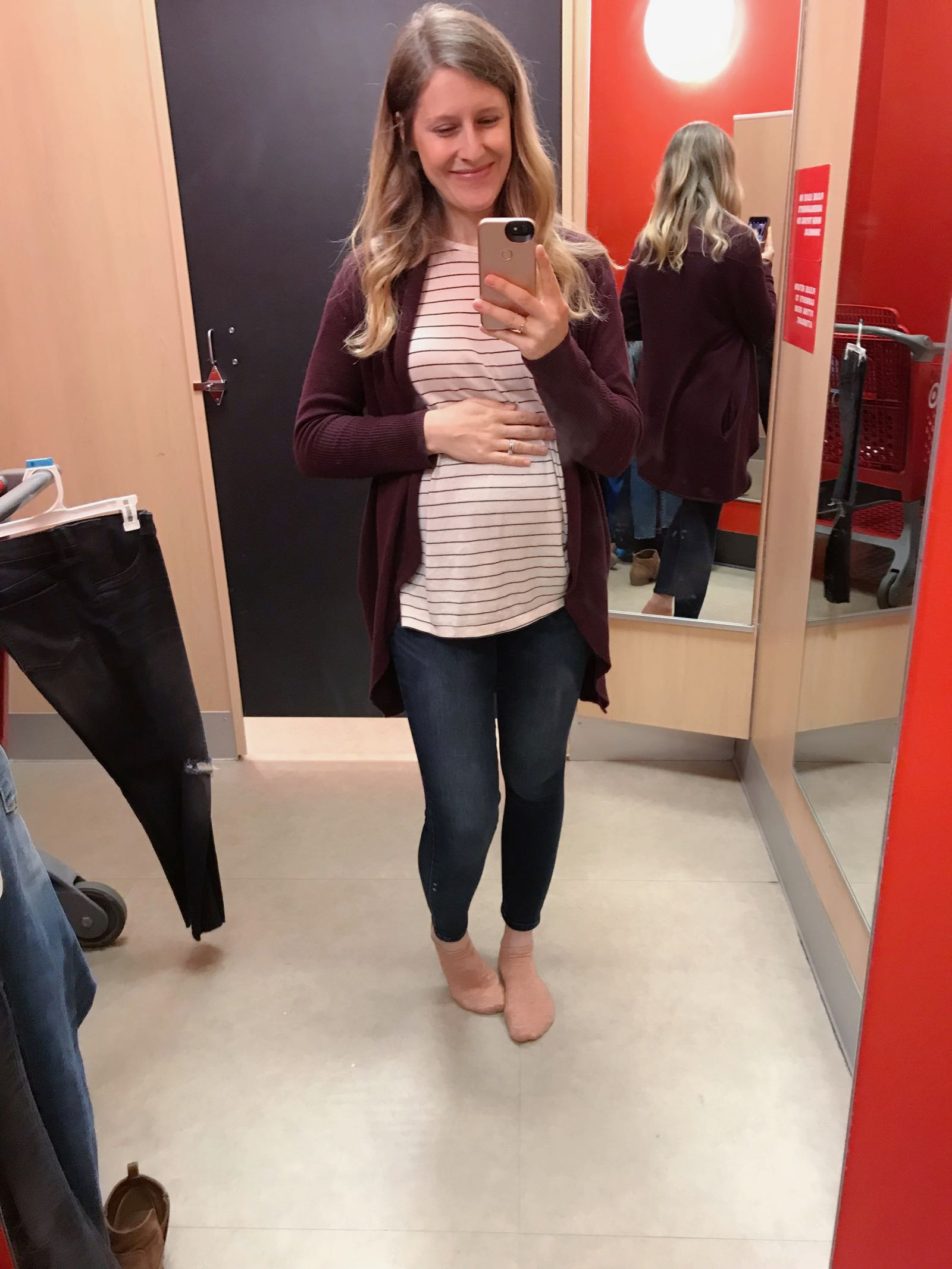 Tips on buying maternity jeans at Target - Isabel by Ingrid and Isabel Maternity Review