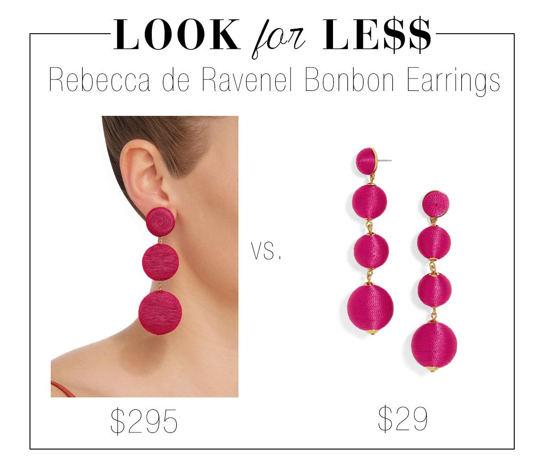 Rebecca de Ravenel Bonbon silk corded ball drop earrings look for less knockoff dupe at Baublebar