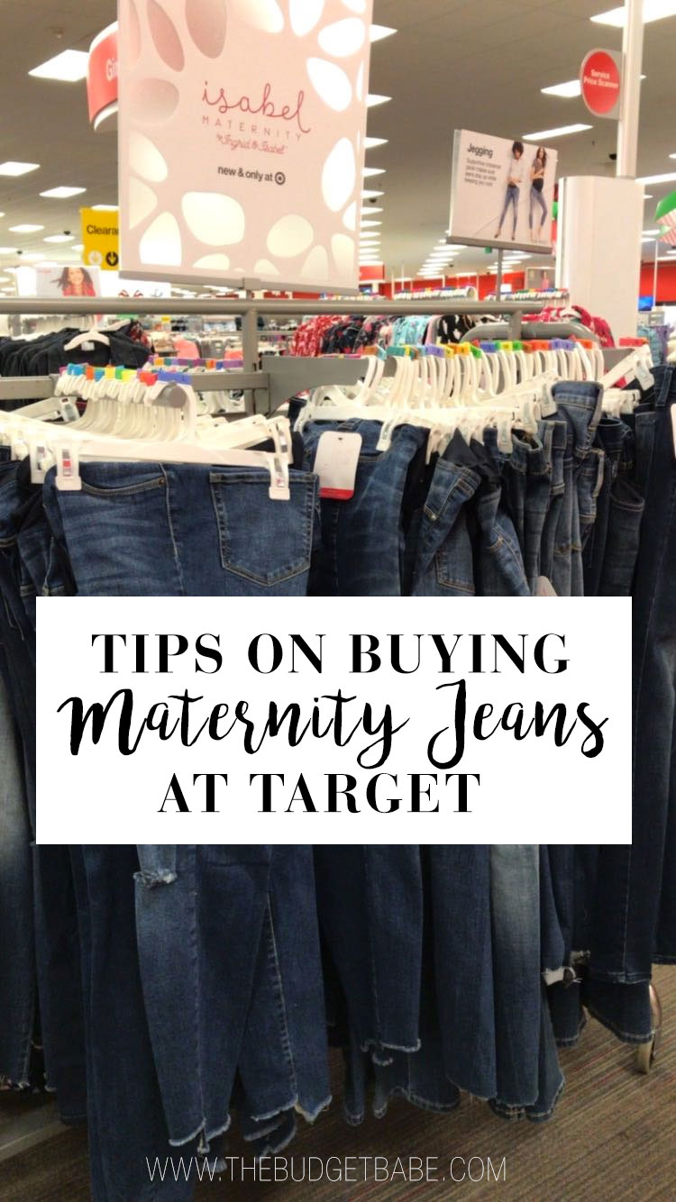 Tips on buying cute and trendy skinny maternity pregnancy jeans at Target