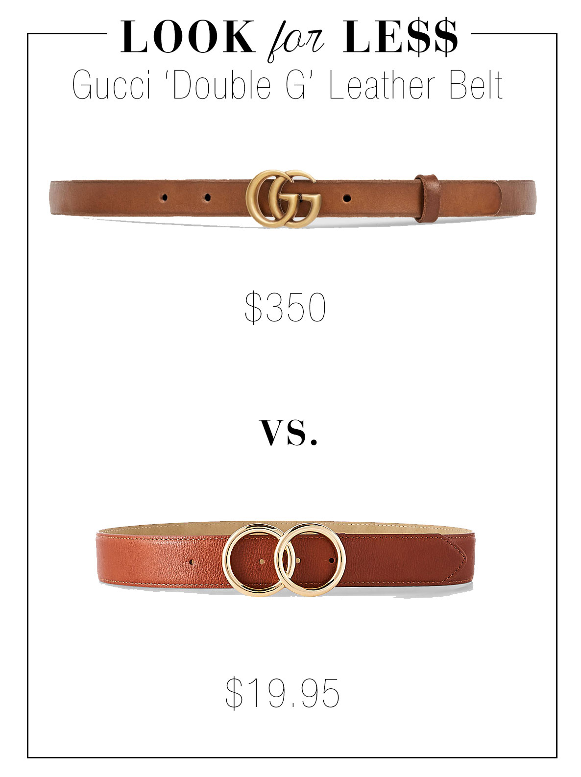 Gucci belt look for less at Express