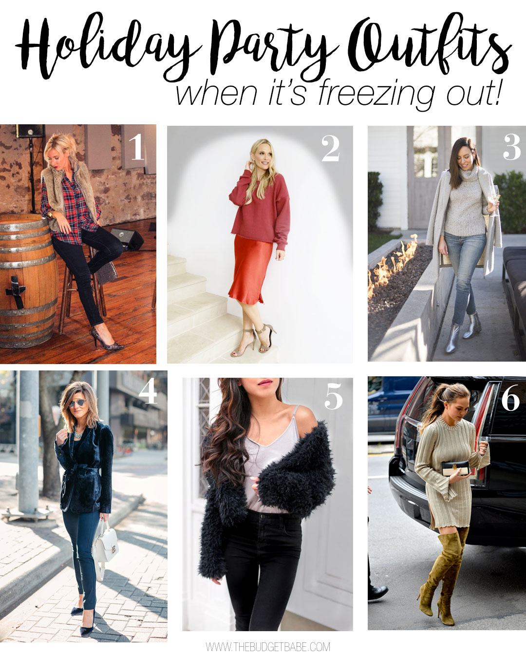 1c8b6041e71a Holiday party, Christmas, New Year's Eve outfit ideas for when it's  freezing outside!
