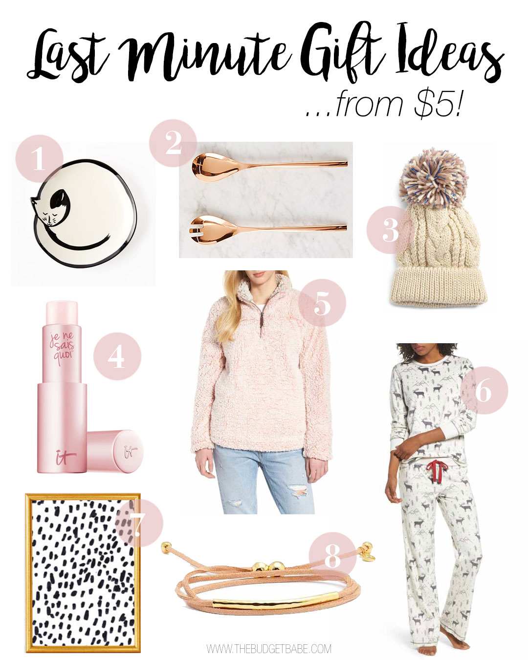 Last Minute gift ideas for girlfriends, sisters, mom and more! From just $5! Fashionable on-trend picks