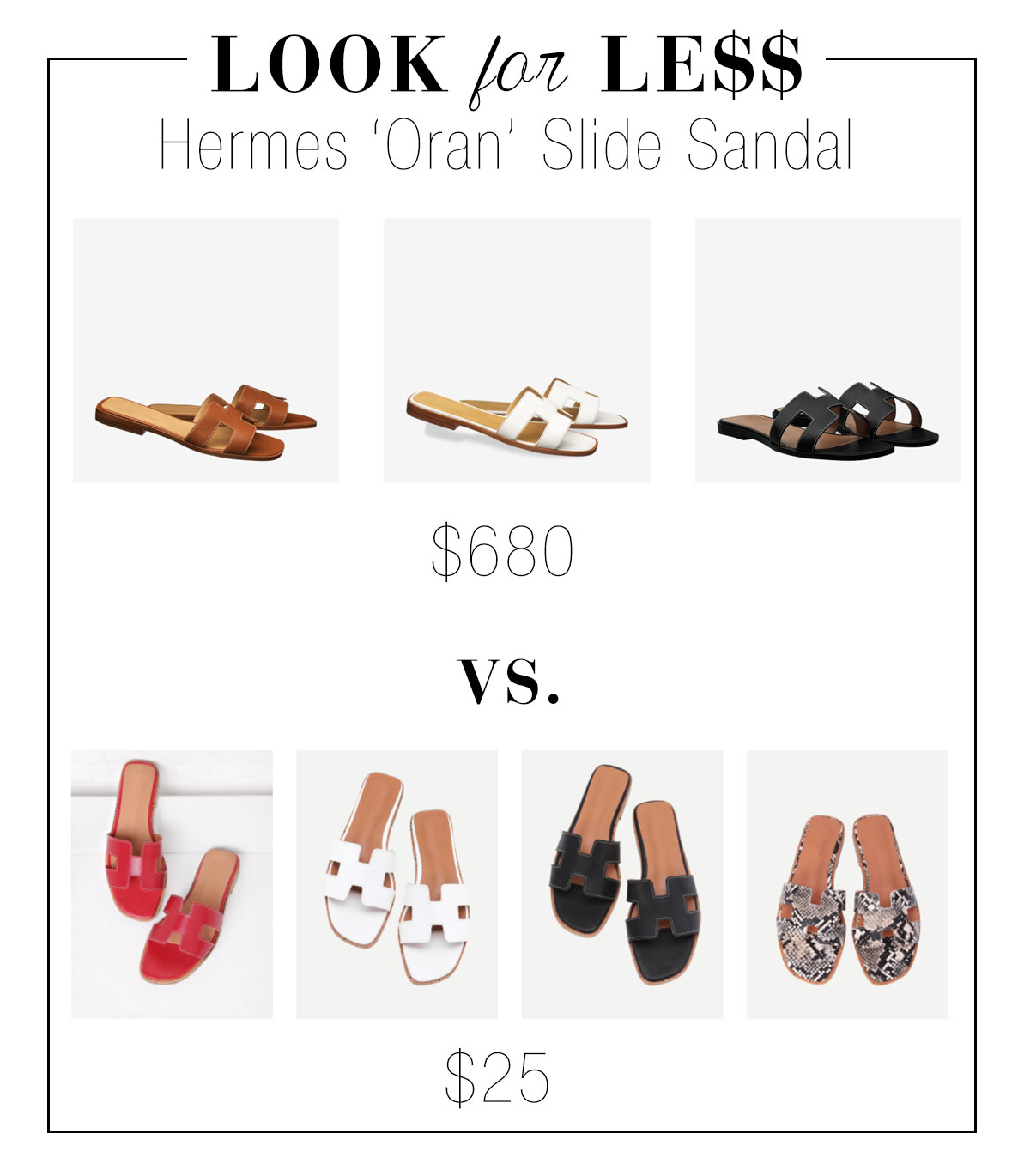 Get the Hermes look for less
