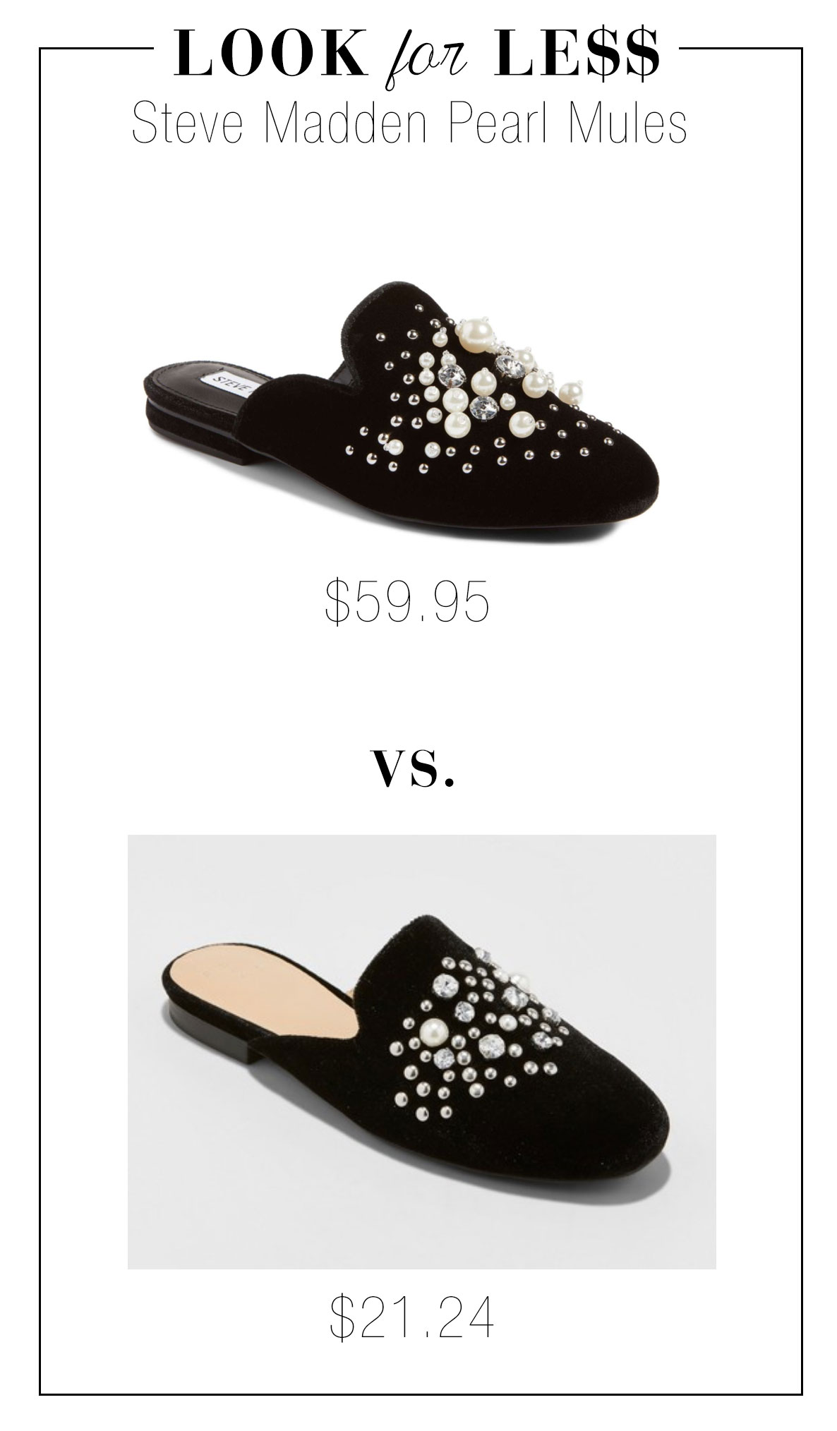 Look for Less: Steve Madden Pearl Mules